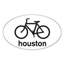 Bike Houston Oval Sticker (10 pk)