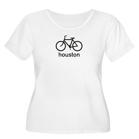 Bike Houston Women's Plus Size Scoop Neck T-Shirt