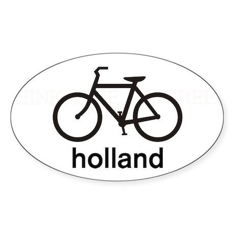 Bike Holland Oval Sticker
