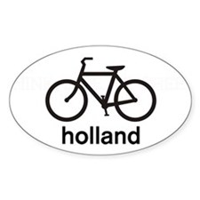 Bike Holland Oval Stickers