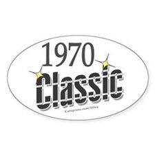1970 Classic Oval Decal