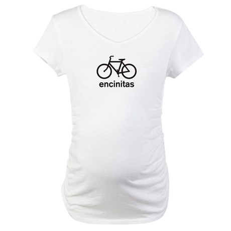 Bike Encinitas Maternity T-Shirt