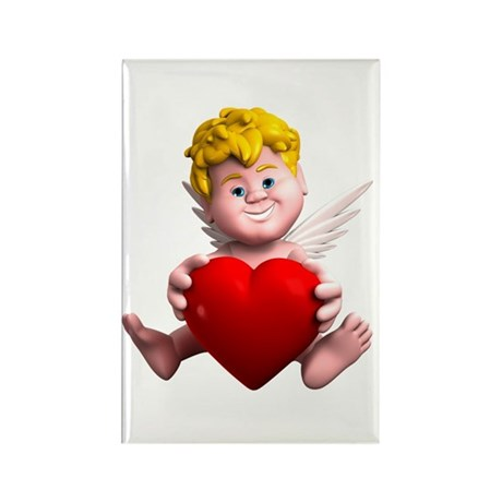 3D Cupid Heart Rectangle Magnet (100 pack)