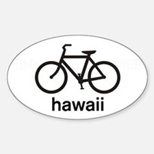 Bike Hawaii Oval Decal