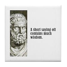 """Sophocles """"Short Saying"""" Tile Coaster"""