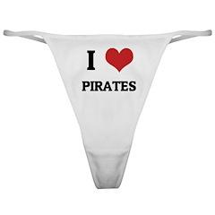I Love Pirates Classic Thong
