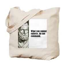 """Sophocles """"Cannot Enforce"""" Tote Bag"""