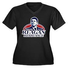 Reagan Resistance Women's Plus Size V-Neck Dark T-
