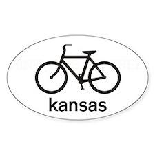 Bike Kansas Oval Decal