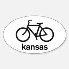 Bike Kansas Oval Decal