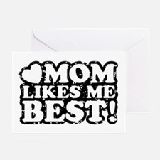 Mom Likes Me Best Greeting Cards (Pk of 10)