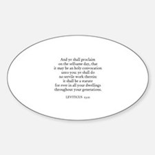 LEVITICUS 23:21 Oval Decal