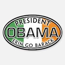 ERIN GO BARACK Oval Decal
