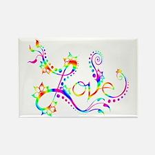 Love /rainbow swirl Rectangle Magnet