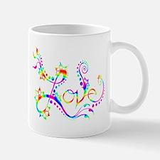 Love /rainbow swirl Mug