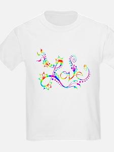 Love /rainbow swirl T-Shirt