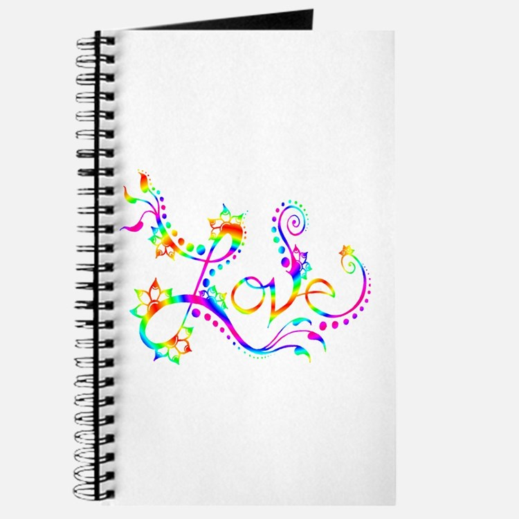 Love /rainbow swirl Journal
