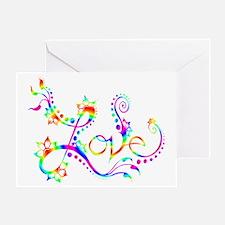 Love /rainbow swirl Greeting Card