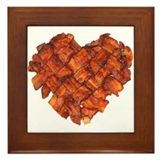 Bacon Heart - Framed Tile