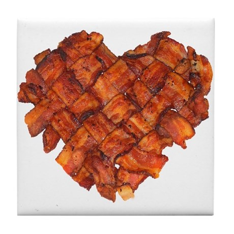 Bacon Heart - Tile Coaster