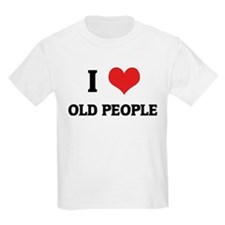 I Love Old People Kids T-Shirt