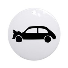 black crash car Ornament (Round)