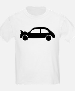 black crash car T-Shirt