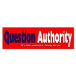 Question Authority Bumper Sticker (50 pk)