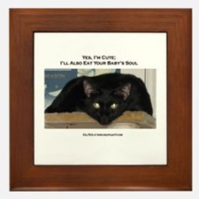 I Eat Baby's Souls Framed Tile