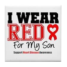 I Wear Red Son Tile Coaster