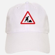 women construction warning si Baseball Baseball Cap
