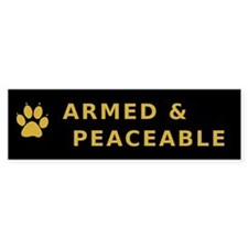 Armed and Peaceable Bumper Car Sticker