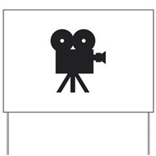 black cine camera hollywood Yard Sign