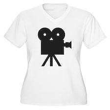 black cine camera hollywood T-Shirt