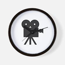 black cine camera hollywood Wall Clock