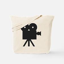 black cine camera hollywood Tote Bag