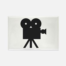 black cine camera hollywood Rectangle Magnet (10 p