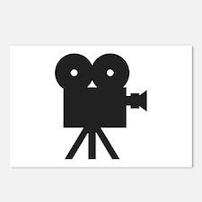 black cine camera hollywood Postcards (Package of
