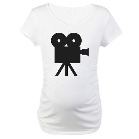 black cine camera hollywood Maternity T-Shirt