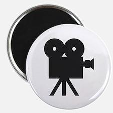 black cine camera hollywood Magnet