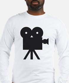 black cine camera hollywood Long Sleeve T-Shirt