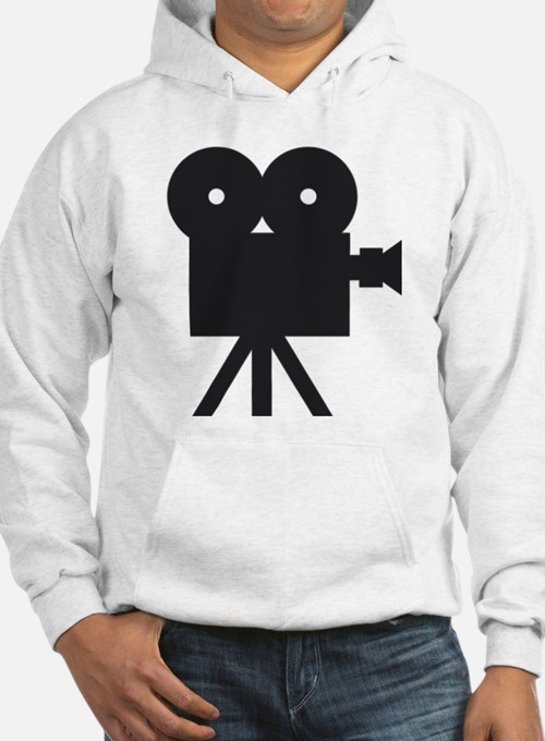 black cine camera hollywood Hoodie