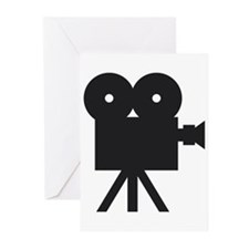 black cine camera hollywood Greeting Cards (Pk of