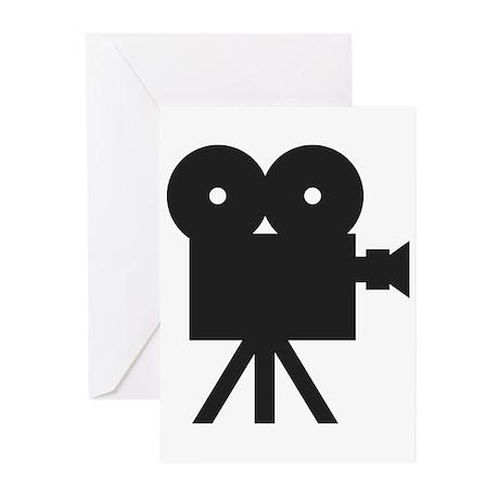 black cine camera hollywood Greeting Cards (Pk of