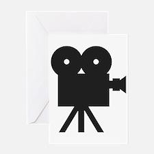 black cine camera hollywood Greeting Card