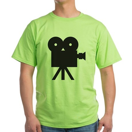 black cine camera hollywood Green T-Shirt