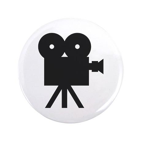 "black cine camera hollywood 3.5"" Button"