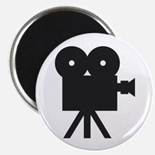 "black cine camera hollywood 2.25"" Magnet (10"