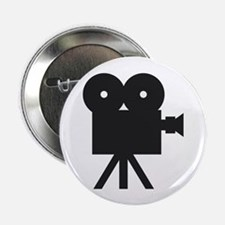 "black cine camera hollywood 2.25"" Button (100"