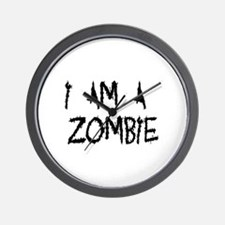 Zombie Romance Wall Clock